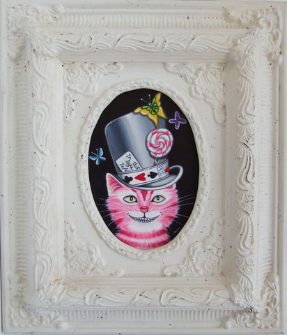 The Cheshire Cat In His Hat Original by Marie Louise Wrightson *NEW*-Original Art-Marie-Louise-Wrightson-The Acorn Gallery