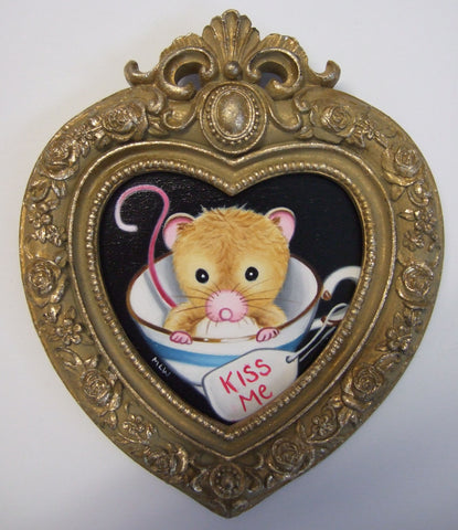 The Kissing Cup Original by Marie Louise Wrightson *SOLD*