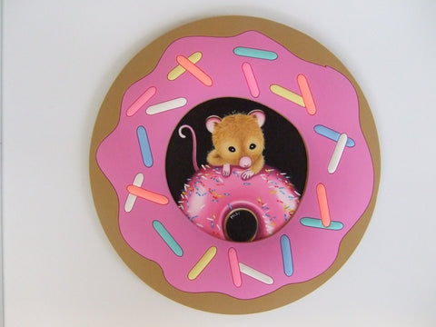 The Pink Doughnut Original by Marie Louise Wrightson *SOLD*-Original Art-Marie-Louise-Wrightson-The Acorn Gallery