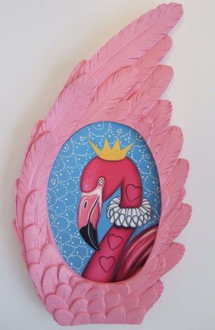 The Queen's Flamingo Original by Marie Louise Wrightson *NEW*-Original Art-Marie-Louise-Wrightson-The Acorn Gallery