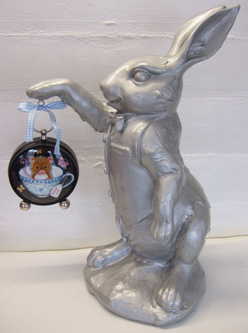The White Rabbit Original by Marie Louise Wrightson *SOLD*-Original Art-Marie-Louise-Wrightson-The Acorn Gallery