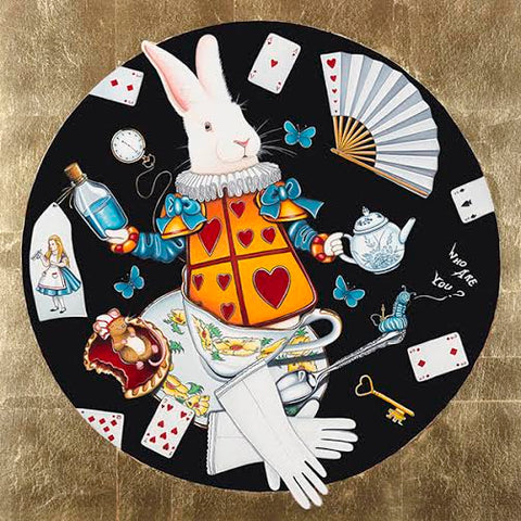 The White Rabbit by Marie Louise Wrightson-Limited Edition Print-Marie-Louise-Wrightson-The Acorn Gallery