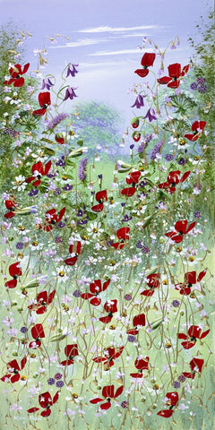Flowers In The Meadow V Original by Mary Shaw *SOLD*