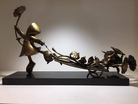 Bringer Of Sunshine Bronze Sculpture by Mackenzie Thorpe