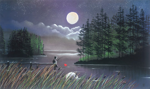 I'll Catch You The Moon by Mackenzie Thorpe-Limited Edition Print-The Acorn Gallery-Mackenzie-Thorpe-artist-The Acorn Gallery