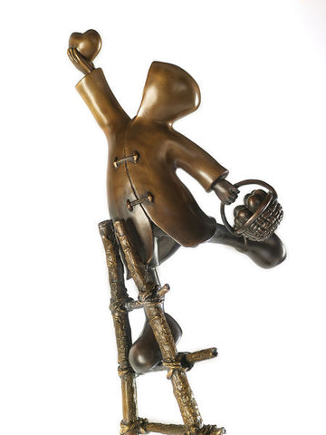 Love Picker Bronze Sculpture by Mackenzie Thorpe *NEW*