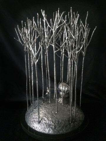 Love In The Forest Stainless Steel Sculpture by Mackenzie Thorpe*NEW*