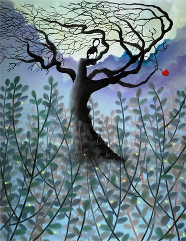 Out Of Reach by Mackenzie Thorpe-Limited Edition Print-The Acorn Gallery-Mackenzie-Thorpe-artist-The Acorn Gallery