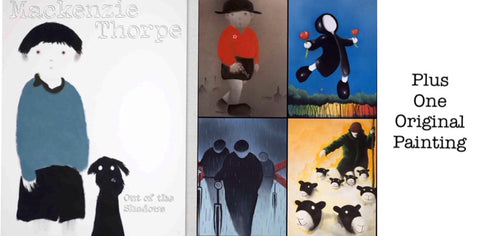 SET of Four Limited Edition Prints With Out Of The Shadows Book by Mackenzie Thorpe