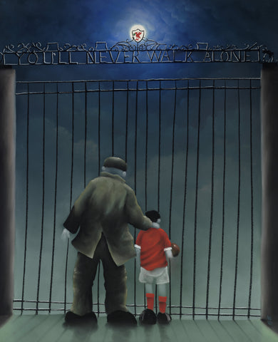 Shankly Gates by Mackenzie Thorpe *NEW*-Limited Edition Print-The Acorn Gallery-Mackenzie-Thorpe-artist-The Acorn Gallery