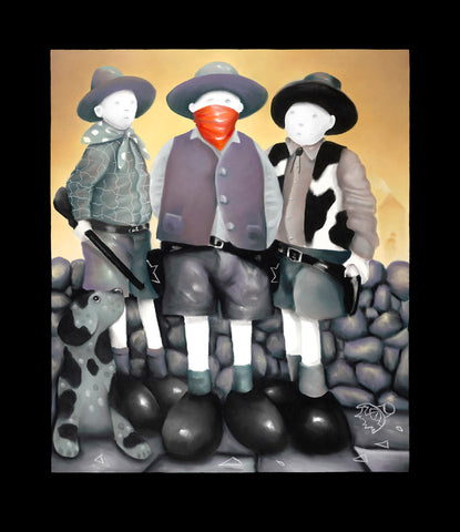 The Outlaw by Mackenzie Thorpe-Limited Edition Print-The Acorn Gallery-Mackenzie-Thorpe-artist-The Acorn Gallery