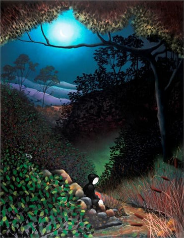 Under The Moon Of Love by Mackenzie Thorpe-Limited Edition Print-The Acorn Gallery-Mackenzie-Thorpe-artist-The Acorn Gallery