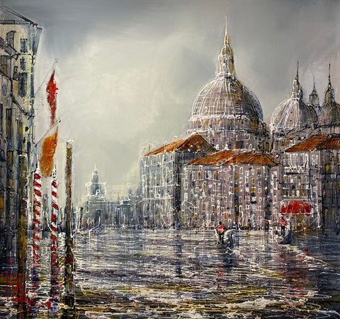 Clouds Over Venice Original on Aluminium by Nigel Cooke *NEW*