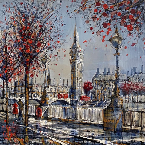 London Stroll Original on Aluminium by Nigel Cooke *NEW*