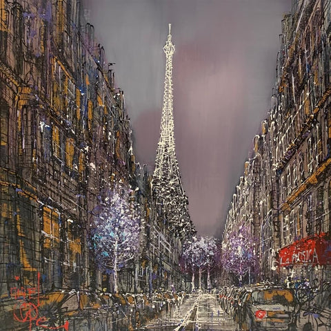 Paris Nights Original on Aluminium by Nigel Cooke *SOLD*