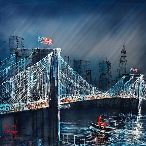 Brooklyn Waters Original on Aluminium by Nigel Cooke *SOLD*