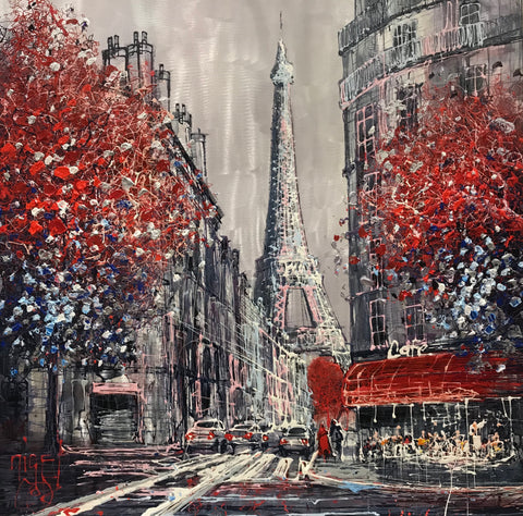 Le Cafe Du Paris Original on Aluminium by Nigel Cooke *SOLD*