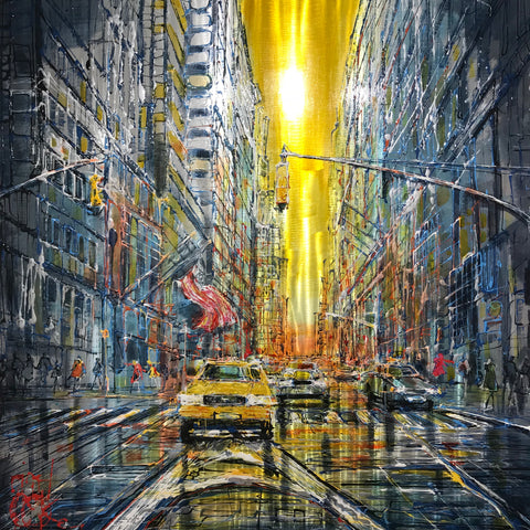 Manic Manhattan Original on Aluminium by Nigel Cooke *SOLD*