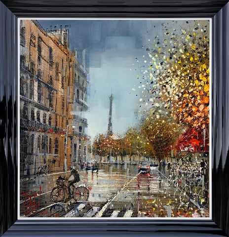 Travelling Around Paris Original on Aluminium by Nigel Cooke *SOLD*