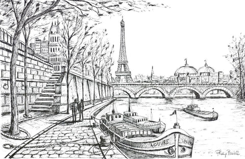 A Seine Walk Original by Phillip Bissell