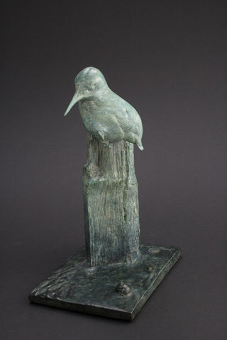 Kingfisher Bronze by Bryan Hanlon-Sculpture-The Acorn Gallery-Bryan-Hanlon-beautiful-bronze-birds-artist-The Acorn Gallery
