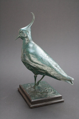 Lapwing Bronze by Bryan Hanlon-Sculpture-The Acorn Gallery-Bryan-Hanlon-beautiful-bronze-birds-artist-The Acorn Gallery