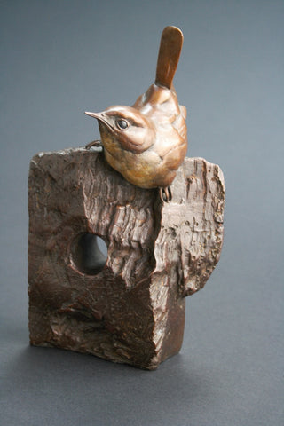 Wren On Stump Bronze by Bryan Hanlon *NEW*
