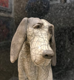 Henry - Large Dog Raku Sculpture by Paul Jenkins