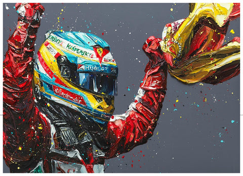 Alonso - Spain 2013 Canvas by Paul Oz