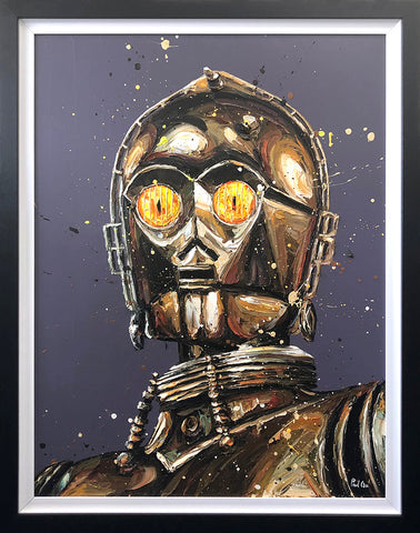 Let The Wookie Win (C3-PO/Star Wars) Canvas by Paul Oz