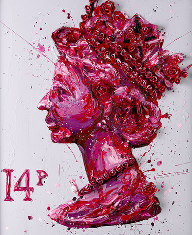 Queen Of Roses Canvas by Paul Oz