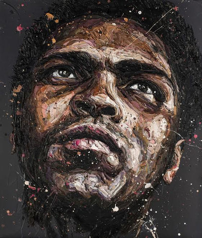 The Astronaut - Muhammed Ali Canvas by Paul Oz