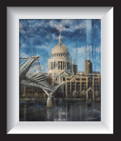 Bridge To St. Pauls Original by Rayford-Original Art-The Acorn Gallery-Rayford-artist-The Acorn Gallery