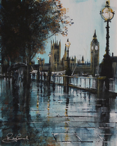 London Study #1 - Embankment Original by Rayford