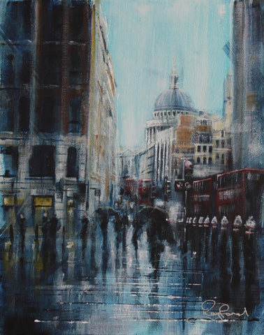 London Study #2 - St. Paul's Original by Rayford *NEW*