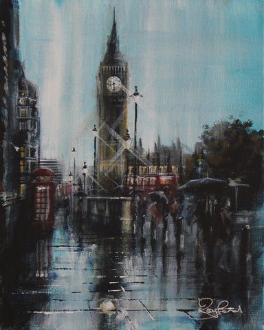 London Study #3 - Parliament Square Original by Rayford *SOLD*-Original Art-The Acorn Gallery-Rayford-artist-The Acorn Gallery