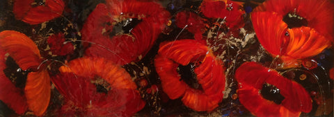 Poppy Parade Original by Rozanne Bell *SOLD*