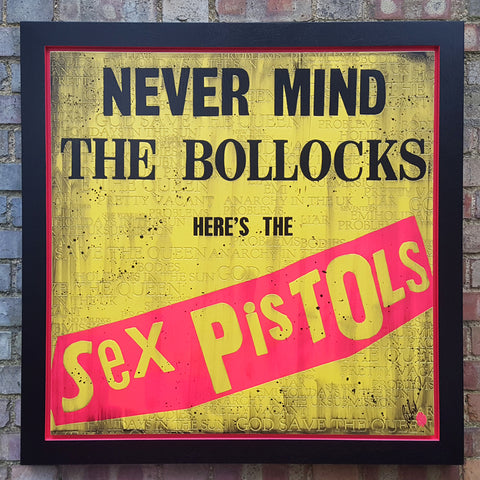 Never Mind The Bollocks (Sex Pistols) Original by Rob Bishop *SOLD*