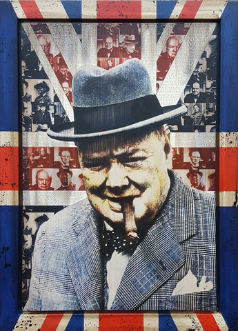 Winston Churchill (Made In Britain) Original by Rob Bishop *SOLD*