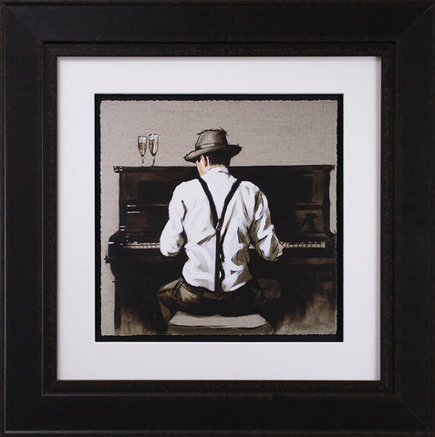 Piano Man by Richard Blunt *NEW*-Original Art-Richard-Blunt-artist-The Acorn Gallery
