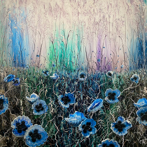Poppyfield Blues Original by Robert Cox *NEW*
