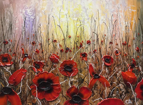 Poppy Field One Original by Robert Cox