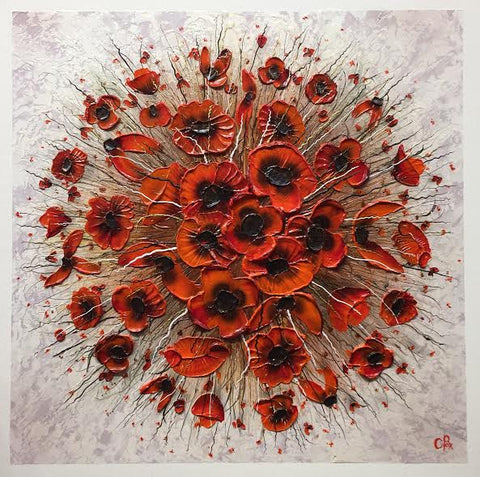 Poppy Spot One Original by Robert Cox *SOLD*