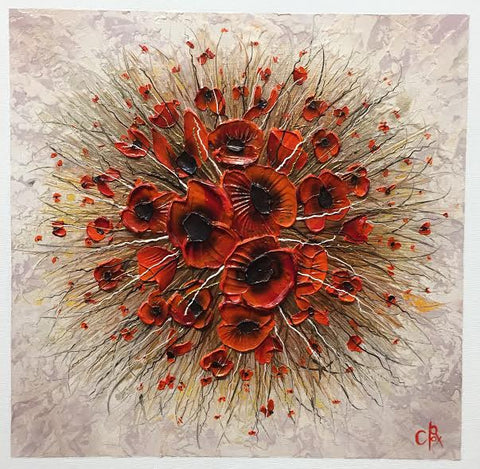 Poppy Spot II Original by Robert Cox *SOLD*