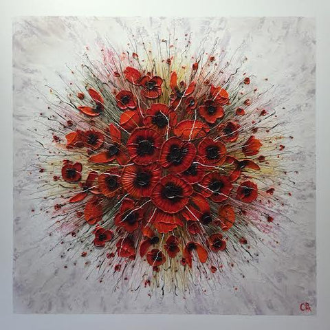 Poppy Spot Original by Robert Cox *SOLD*