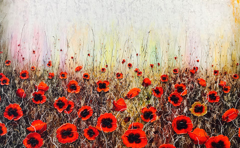 Poppy Field I Original by Robert Cox *SOLD*