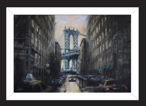 Bridge To New York Manhattan by Rayford-Limited Edition Print-The Acorn Gallery-Rayford-artist-The Acorn Gallery