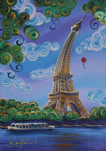 Eiffel Tower Original by Rayford *SOLD*