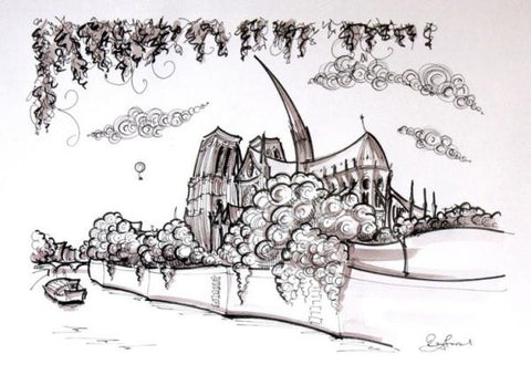 France Notre Dame Original by Rayford *SOLD*