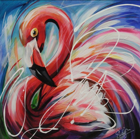 Flossie (Flamingo) Original by Susan Leigh *NEW*